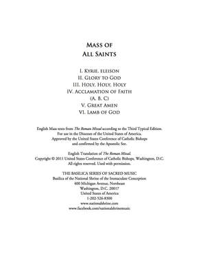 Music: Mass of All Saints